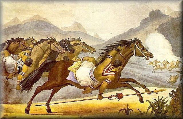 Índio Guaicurus em montaria